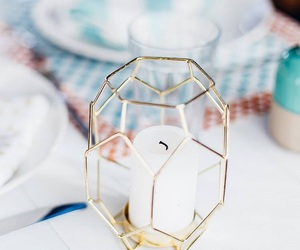 candle, gold, and inspiration image