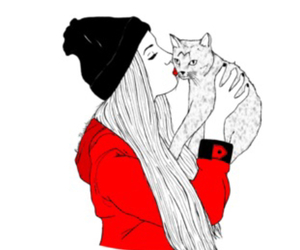 cat, pretty, and red image
