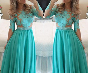 Prom, long prom dresses, and lace appliques image