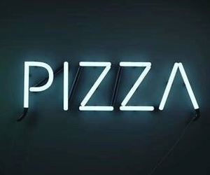 pizza, light, and food image