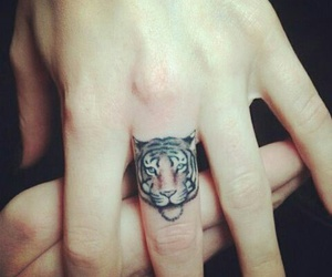 animals, Tattoos, and tiger image