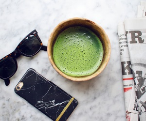 black, food, and green smoothie image