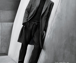 black and white, jacket, and male model image