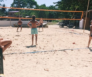 beach, volleyball, and thailand image