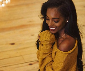 beauty, black girl, and yellow image