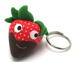 berry, chocolate, and keyring image