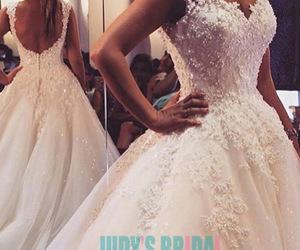 ball gown, princess, and wedding dress image