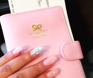 inspo, nails, and pink image