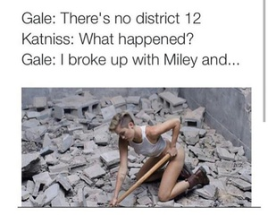 miley cyrus, the hunger games, and katniss image