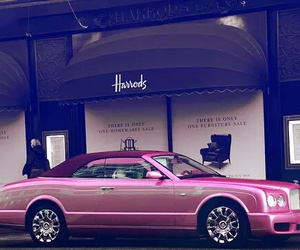 car, pink, and harrods image