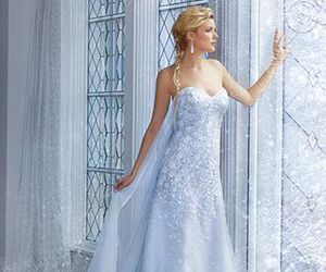 frozen, wedding dress, and dress image