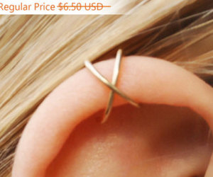 earrings, etsy, and no piercing needed image