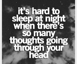 sleep, thoughts, and night image