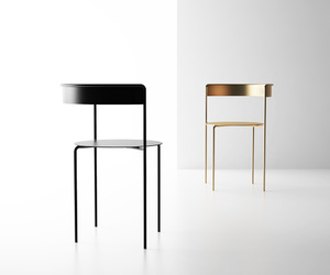 black, chairs, and minimalist image