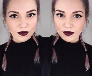 gorgeous, purple hair, and youtube image