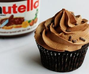 cream, cupcake, and nutella image