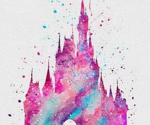 disney, castle, and art image