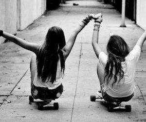 friends, best friends, and skate image