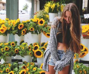 fashion, flowers, and kardigan image