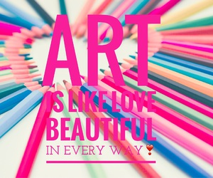 art, easel, and love image