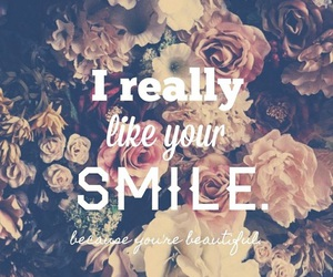 smile, beautiful, and love image
