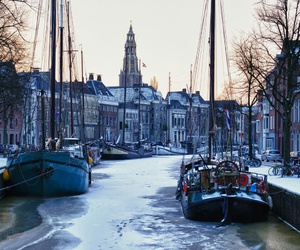 city, winter, and netherlands image
