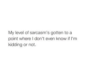 sarcasm, funny, and kidding image