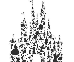 disney, castle, and character image