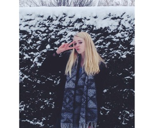 blonde, girl, and scarf image