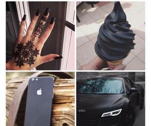 black, car, and nails image