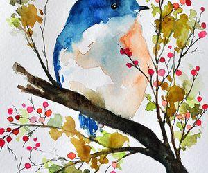 art, bird, and beautiful image