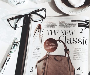 beauty, glasses, and vogue image