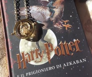 book, time-turner, and harry image