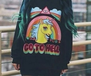 unicorn, grunge, and hair image