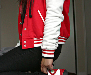 girl, swag, and red image