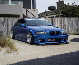 blue and bmw e46 330ci image