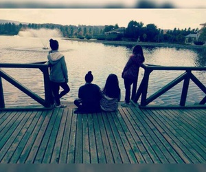 girl, beatiful, and friends image