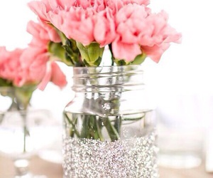 decor, flowers, and glitter image