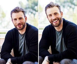 actor, chris evans, and beard image