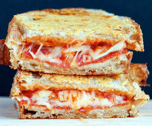 delicious, pizza, and sandwich image