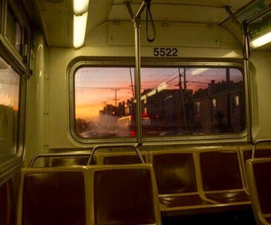 bus, aesthetic, and sunset image