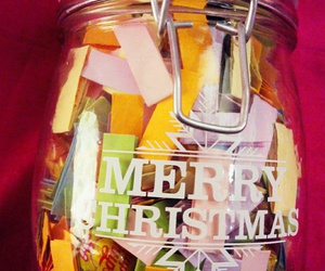 christmas, merry, and jar image