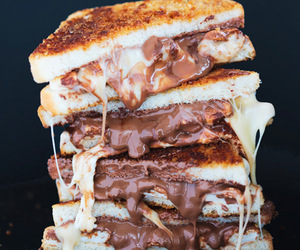 food, chocolate, and sandwich image