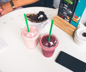 drink, fruit, and smoothie image