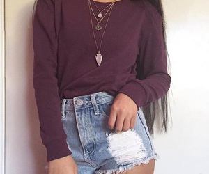 girl, outfit, and background image