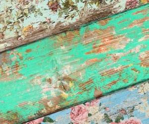 flowers, vintage, and wood image