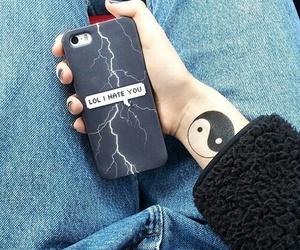 grunge, iphone, and tattoo image