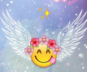 emoji, angel, and wallpaper image