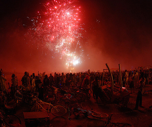 fireworks, beautiful, and people image
