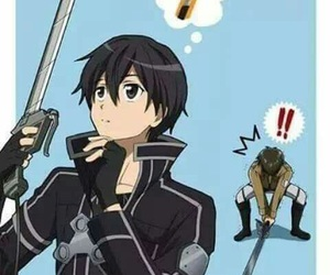 kirito, sword art online, and anime image